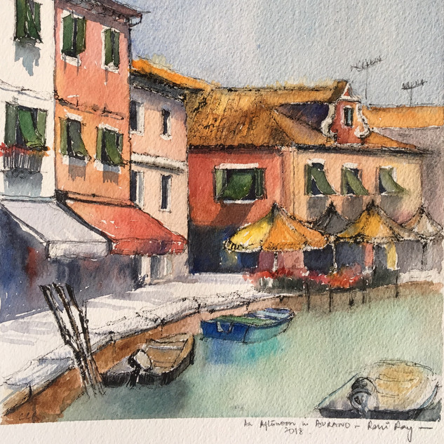 A Quiet summer afternoon in Burano, Italy