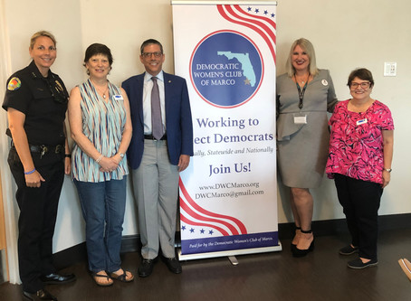 Democratic Women's Club of Marco Island General Meeting March 10, 2020, Mackle Park 5-6:30 pm