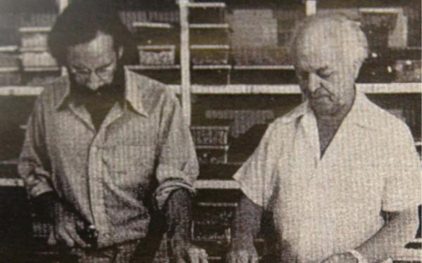 Conrad Pickel working in his studio