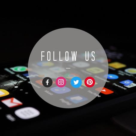 Follow Along On Social Media