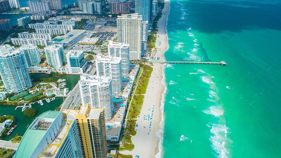 Aerial view of Sunny Isles Beach. Miami. Florida. USA. .jpg