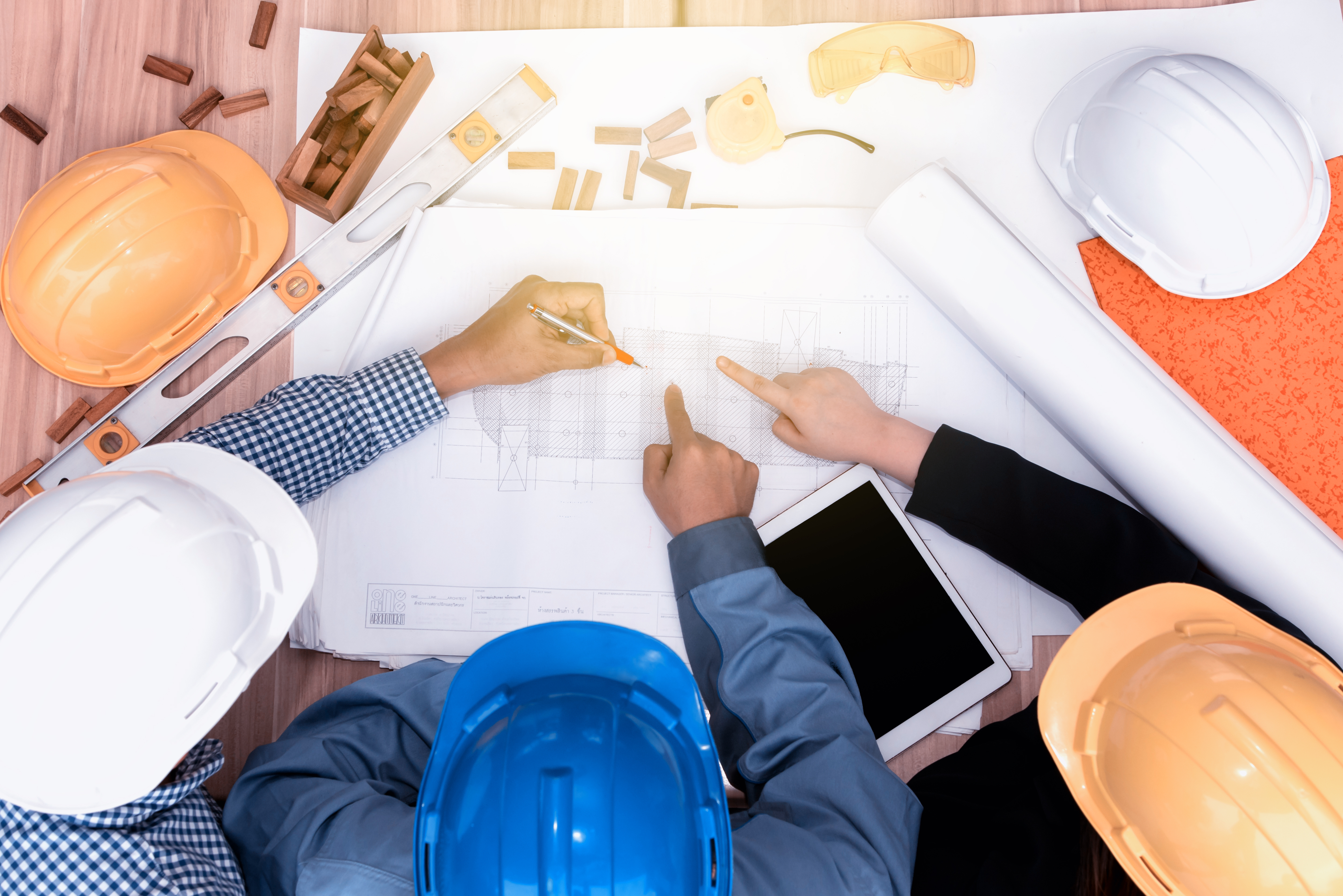 Architects meeting discussing a new project