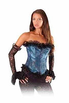 Lady in Pirate styled corset