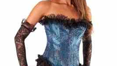 6002-c Steel Bone Corset with Lace