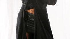 309 Unisex Long Velvet Frock Coat