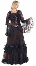 Lady in a pirate long dress