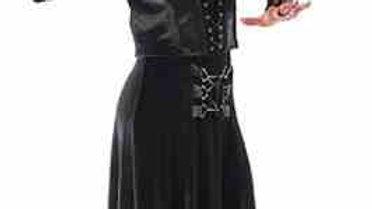 3031 Long Velvet Skirt