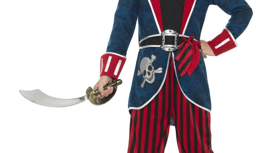Deluxe Boys Pirate Captain Costume