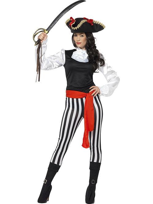 Pirate Lady Striped Costume