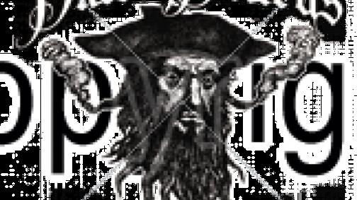 Blackbeard (b&w)