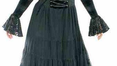 1417 Long Gothic Petticoat dress