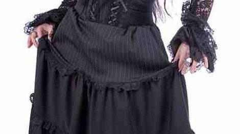 1526 Pinstriped Long Dress