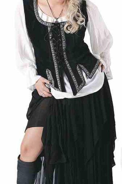 1344 Zig Zag Hem Skirt