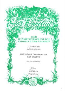JEST_JCH mARINGVAR Takara Akina