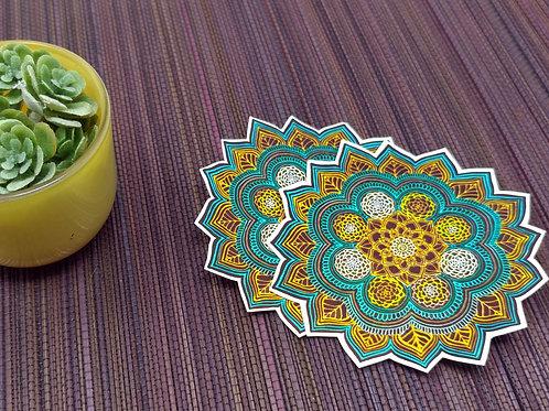 Succulent Mandala Vinyl Sticker