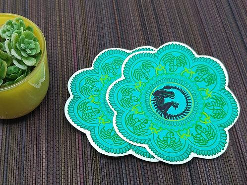 Xenomorph Fandala Vinyl Sticker