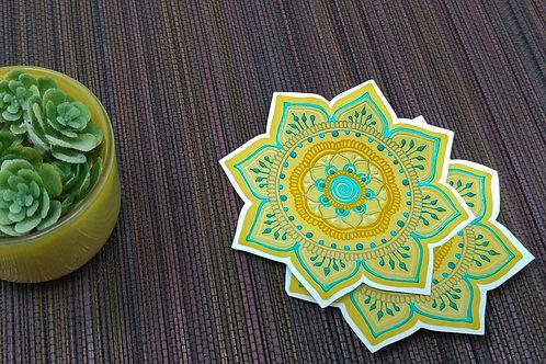 Mossy Mandala Vinyl Sticker