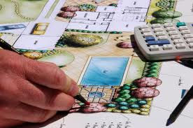 landscape design drawing hand holding pencil