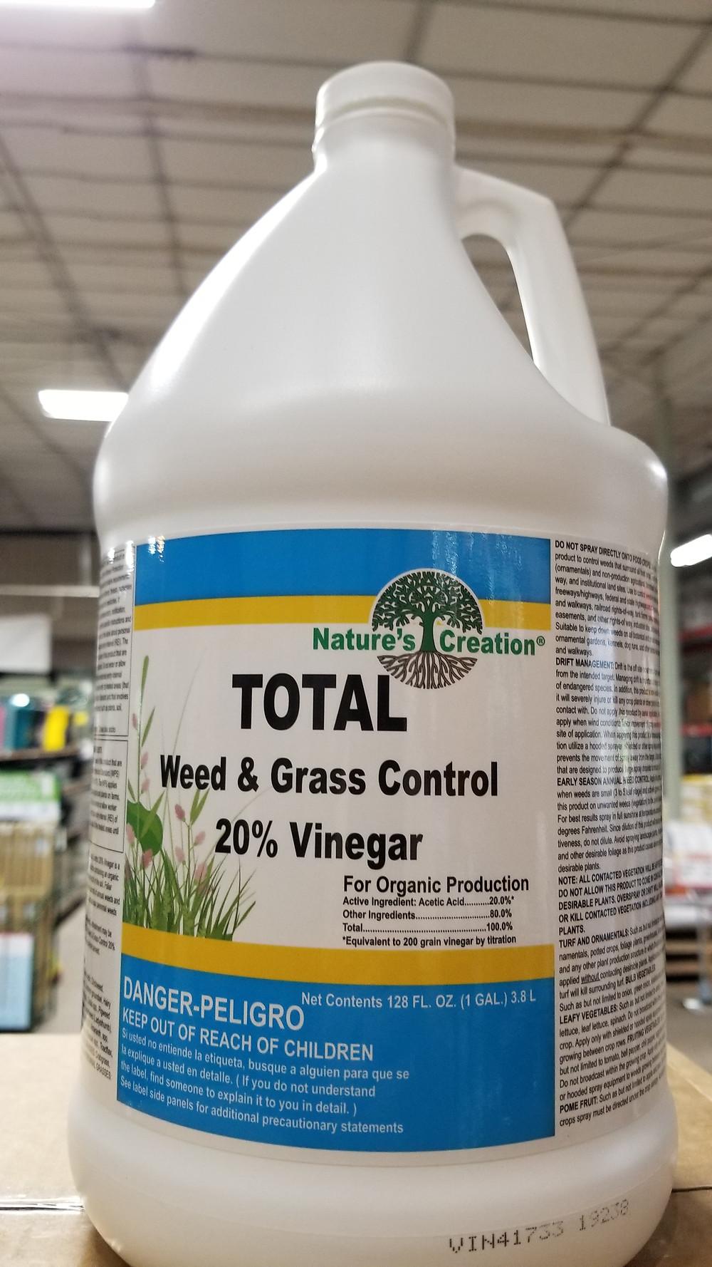 20% horticultural vinegar