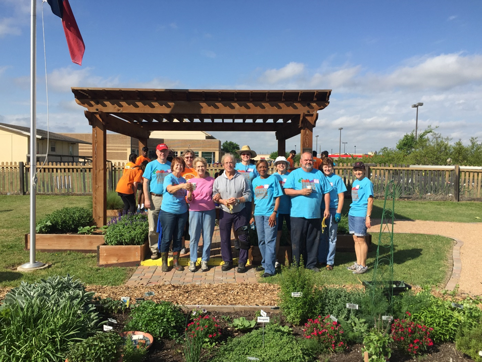 Volunteers working at the Giving Garden of Carrollton