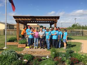 Volunteers working at the Giving Garden of Carrollton