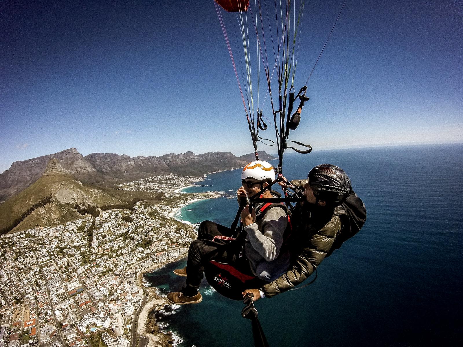 Cape Town paragliding, paragliding South Africa, tandem paragliding,