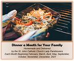 Raffle item Dinner for a year-St. John C