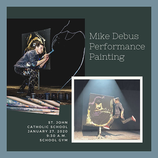 Mike Debus Promotional Material 3 w bord