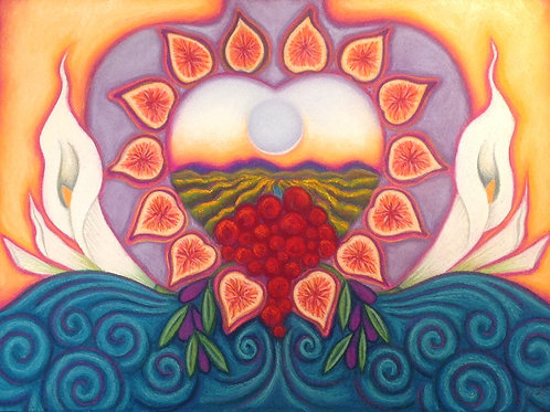 Grapeful Figfilled Heart ~ SOLD