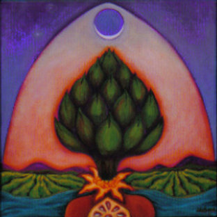 Artichoke & Pomegranate Totem