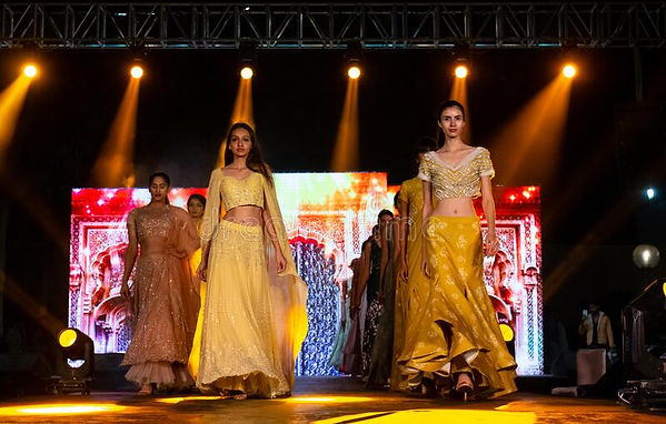 indian-female-model-performing-ramp-walk-fashion-show-new-delhi-india-november-young-femal