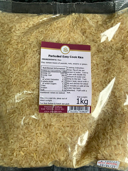 Rice (easy cook par boiled) 1kg
