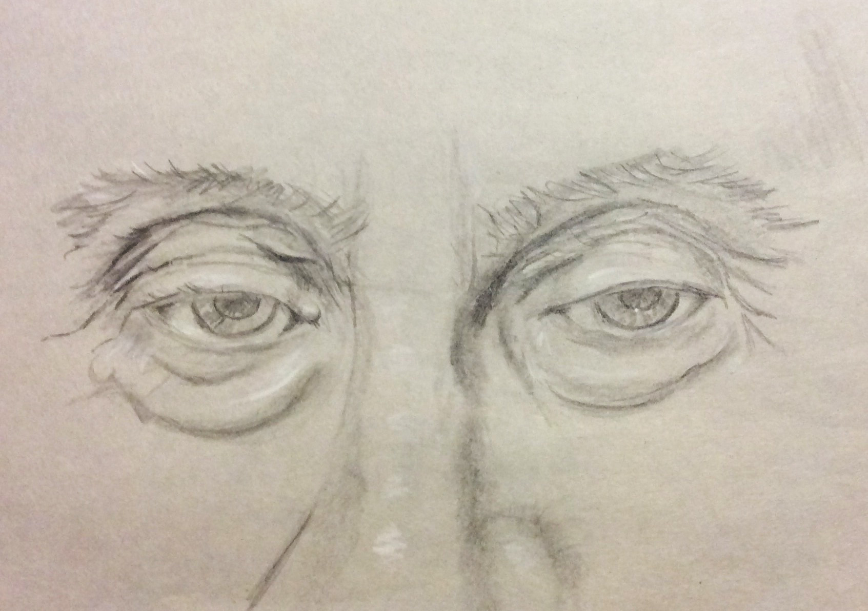 Old man's eyes