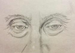 Old man's eyes