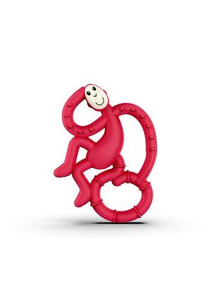 Mini Monkey Teether Red