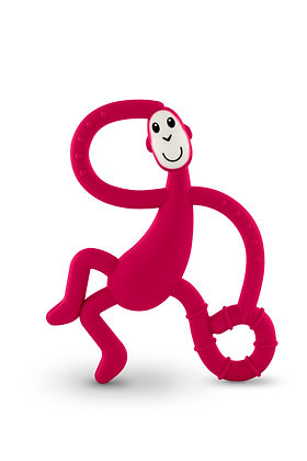 Dancing Monkey Teether Rubine