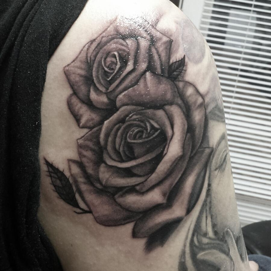 img alt=rose tattoo, black and grey tattoo, dallas, tattoo, artist.jpg