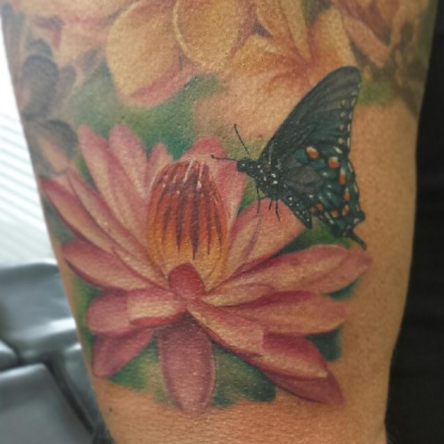 lotus-tattoo-butterfly-color-gold-dust-tattoos-dallas-tx-char-mcgaughy-girly-tat