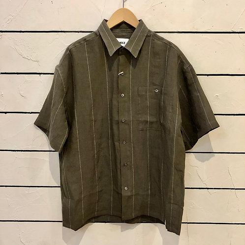 WAX Linen pin stripe S/S shirts