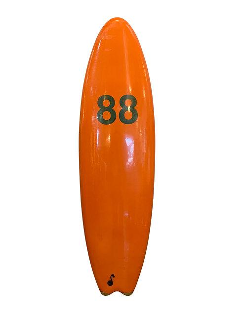 送料無料 88 SURFBOARDS 6'6 オレンジ 2020ss