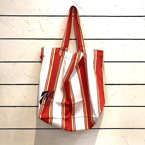 THM Retoro stripe tote bag