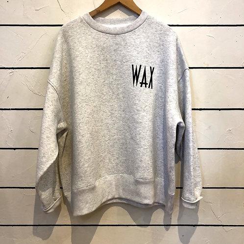 WAX wide body crew sweat GRAY