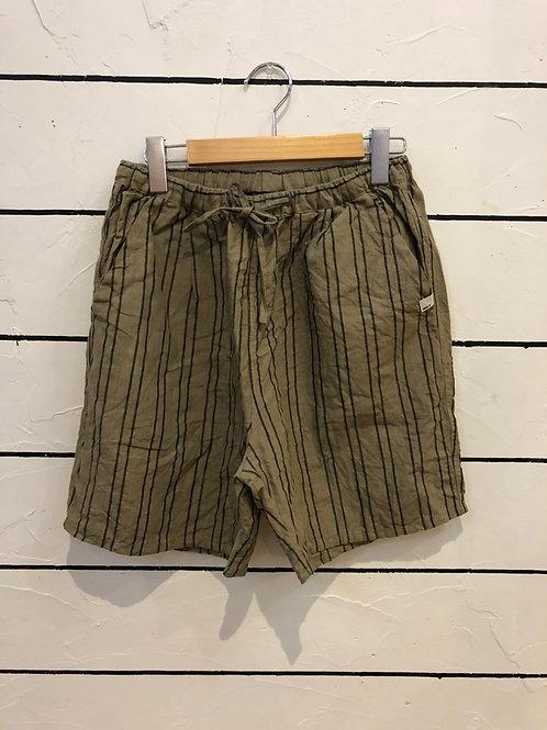 WAX 2021 Linen stripe wide easy shorts