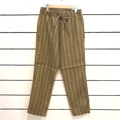 WAX2021 Linen stripe easy pants
