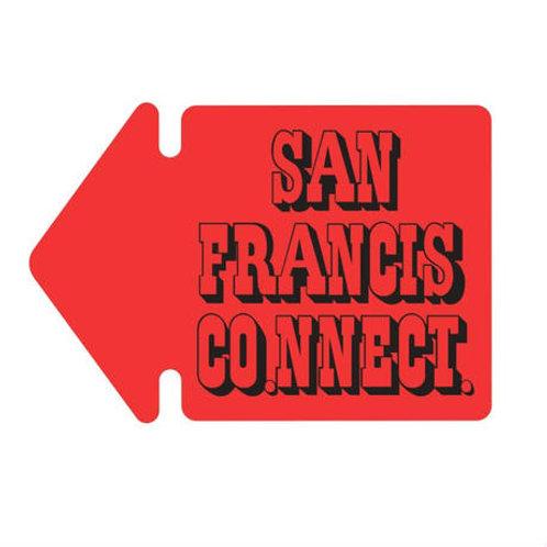 SAN FRANCISCO.NNECT. Arrow ステッカーiPhoneサイズ