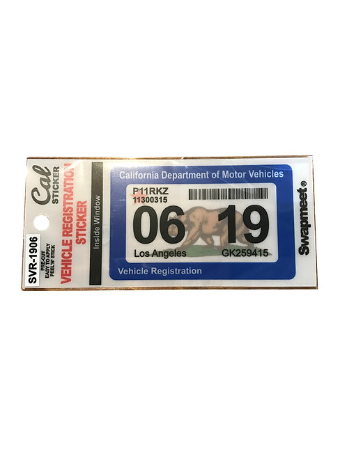 VEHICLE REGISTRATION STICKER