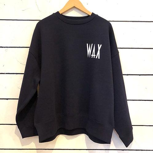 WAX wide body crew sweat NAVY