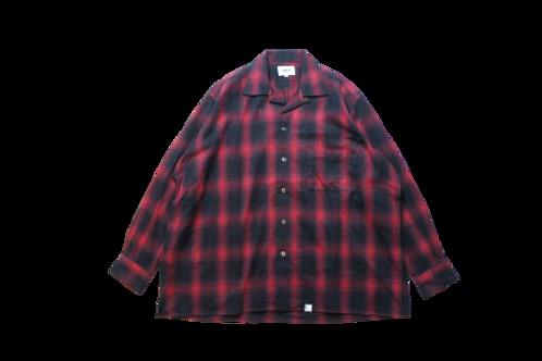 WAX Ombre check open collar shirts