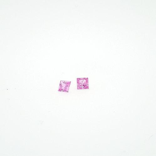 saphirs rose princesse 0.86 ct