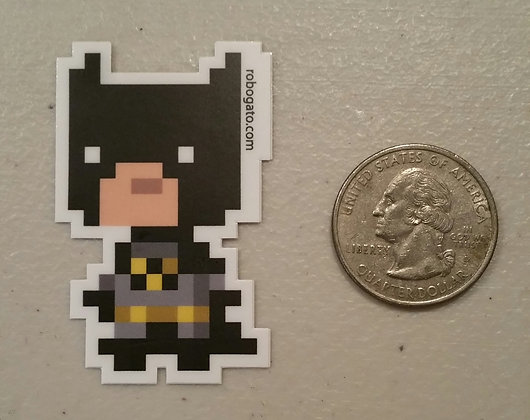 Batty Pixel Sticker